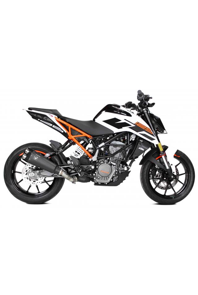 Kit Pot Échappement Ovale Noir Inox KTM DUKE 300BS RC 125 390 2017-2020